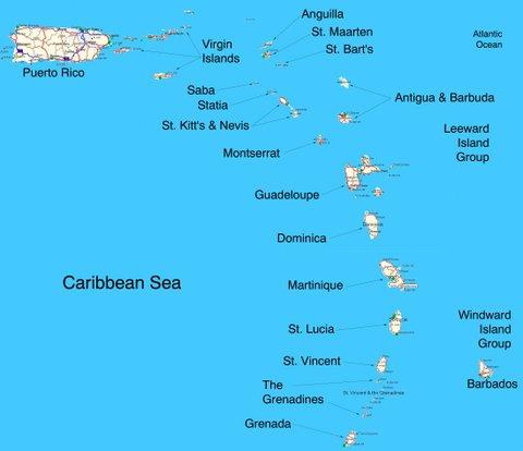 Sailing Area Eastern Caribbean